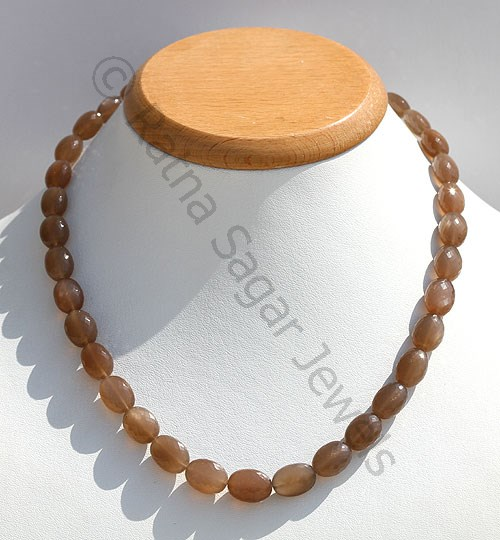 Coffee Moonstone Faceted Oval