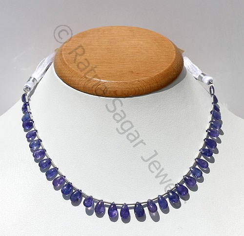 Tanzanite Flat Pear Plain