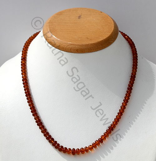 Spessartite Gemstone Faceted Rondelle