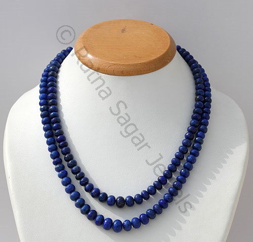 Lapis Gemstone  Faceted Rondelles