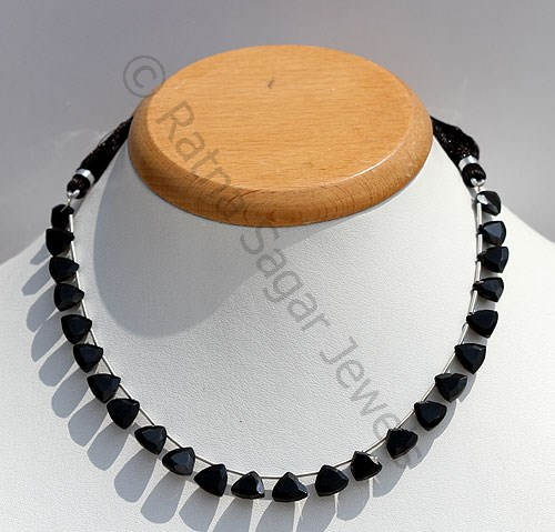 Black Spinel Trilliant Cut Beads
