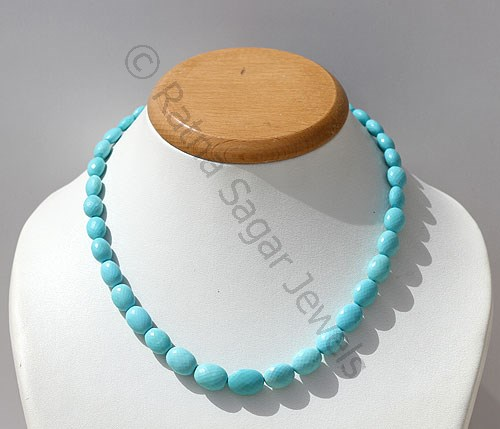 Turquoise Faceted Oval
