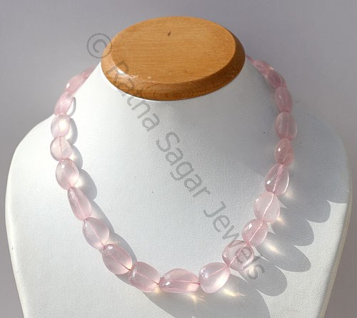 Rose Quartz Gemstone  Faceted Nuggets