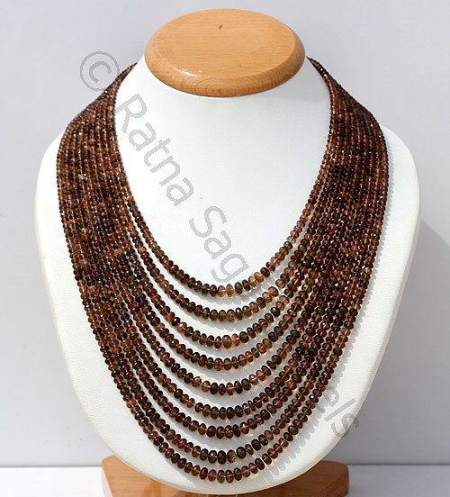Andalusite Gemstone Beads Necklace