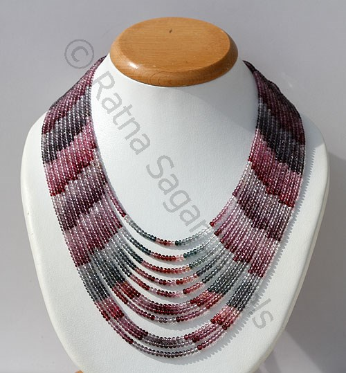Multi Spinel Gemstone Necklace