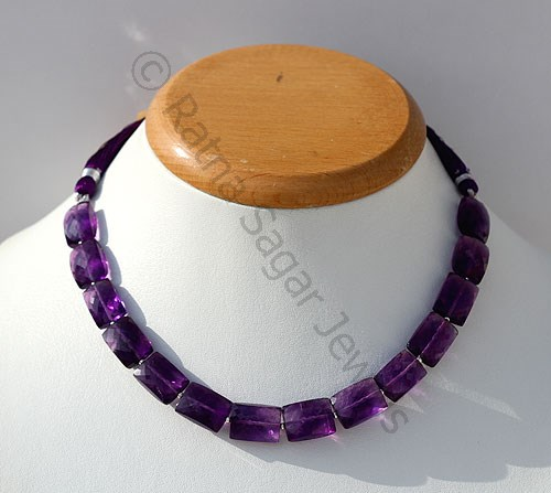 Amethyst Gemstone Beads  Faceted Rectangles
