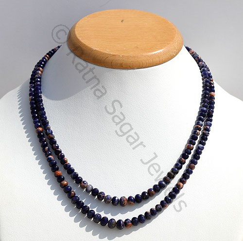 Sodalite Gemstone Faceted Rondelle