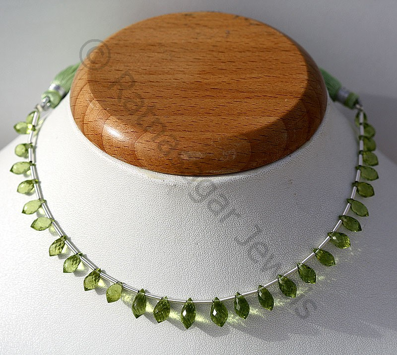 Peridot Gemstone Beads  Chandelier Briolette