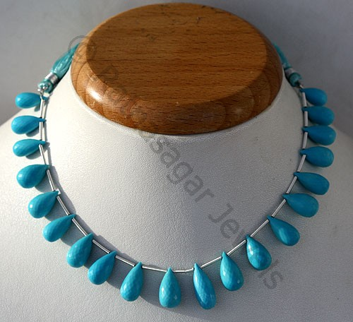 Turquoise Gemstone Tear Drops Briolette