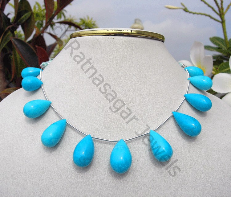 Turquoise Gemstone Plain Tear Drops