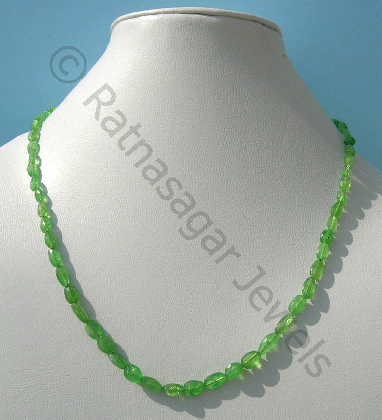 Tsavorite Gemstone Faceted Nuggets Beads