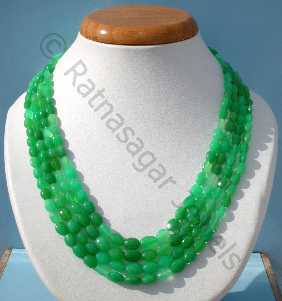 Chrysoprase Gemstone  Oval Faceted
