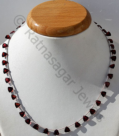 Garnet Gemstone Trilliant