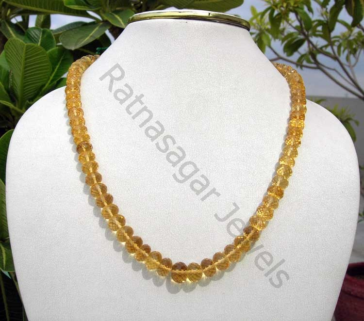 Honey Quartz  Faceted Rondelles