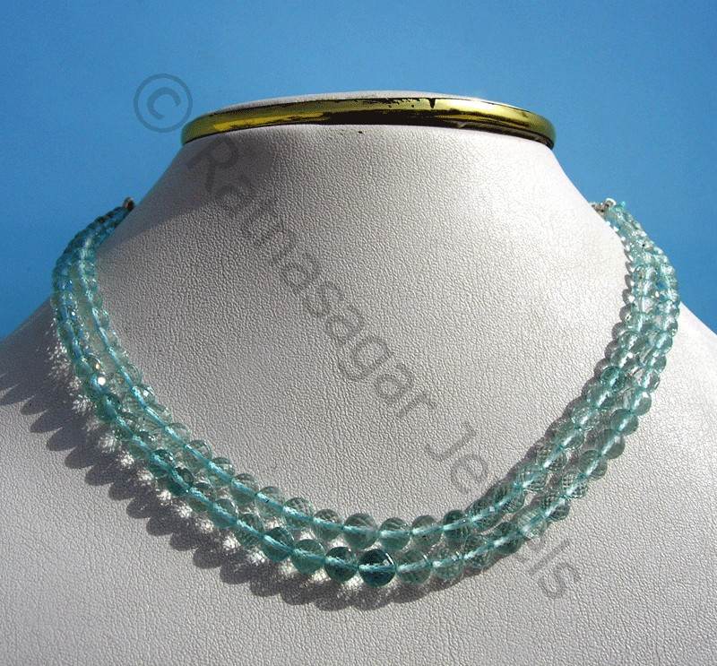 Aquamarine Gemstone  Faceted Rounds