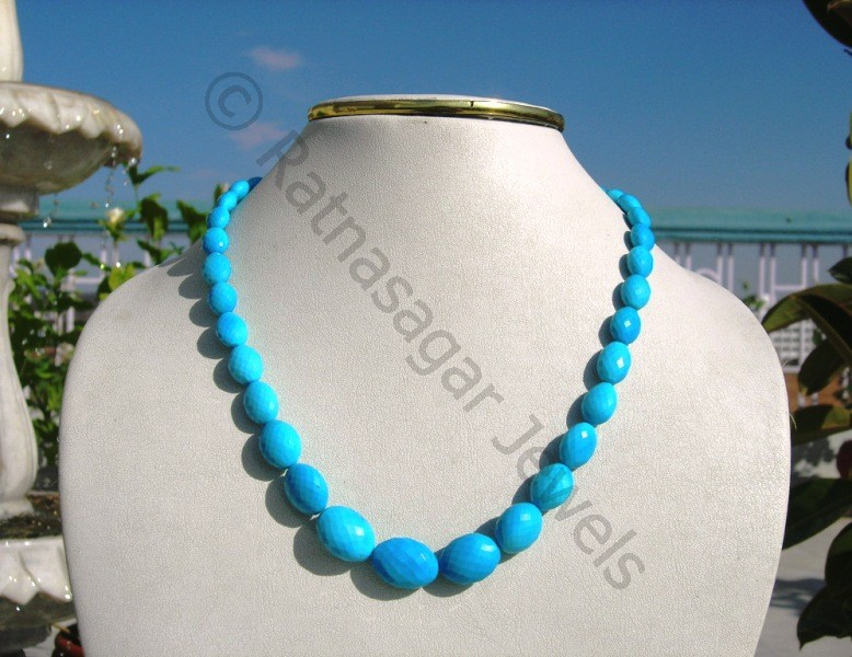 Turquoise Gemstone Oval Faceted
