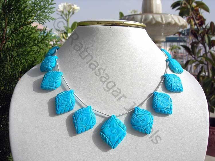Turquoise Gemstone Fancy Beads