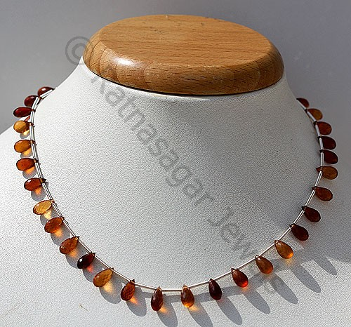 Hessonite Garnet  Tear Drops Briolette