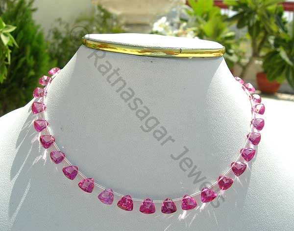 Pink Topaz Gemstone  Trilliant