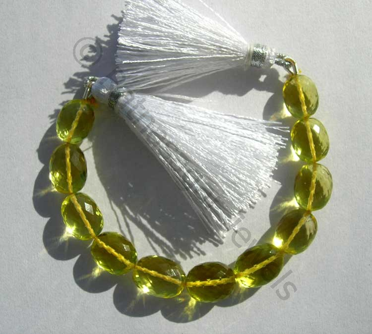 Lemon Quartz  Oval Faceted