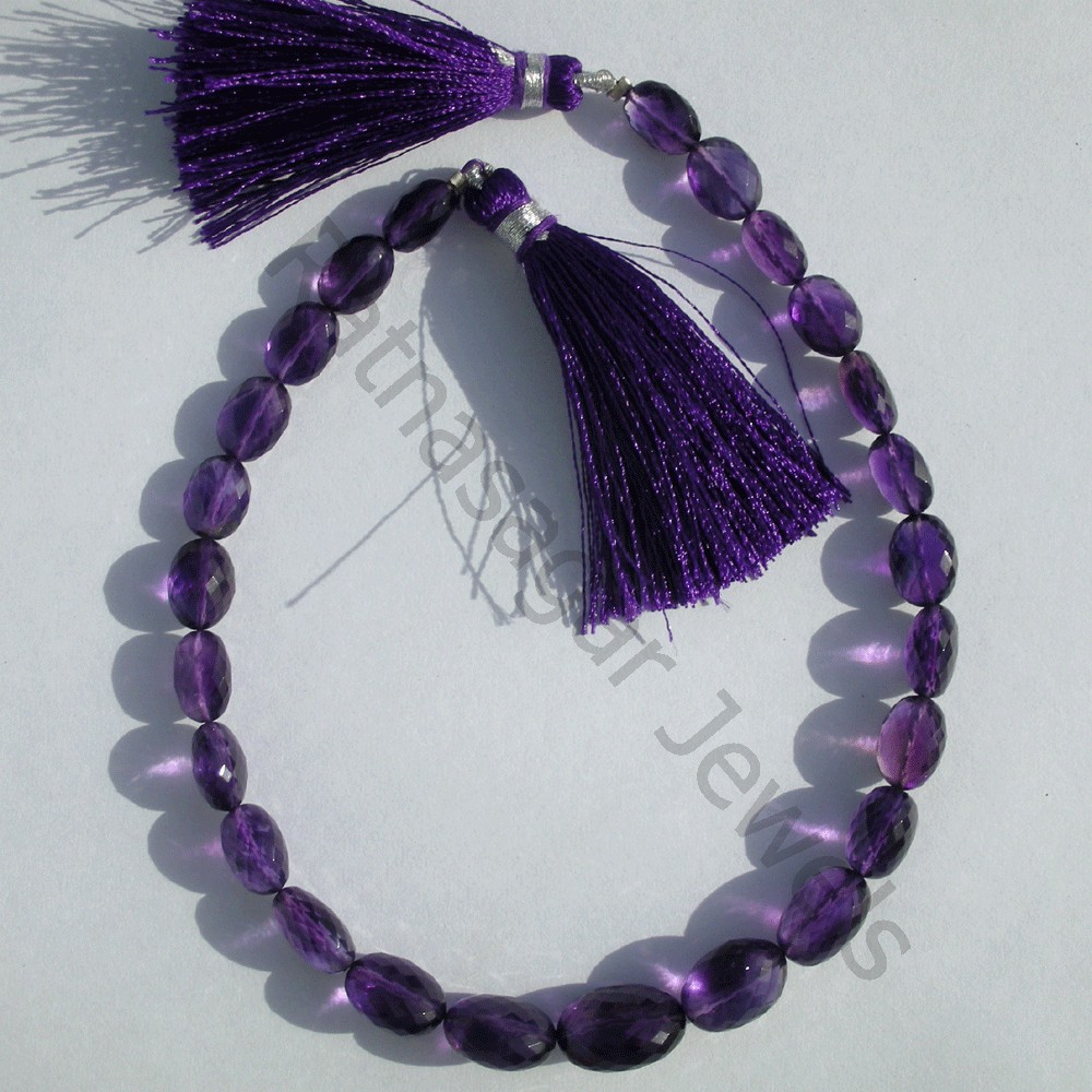 Amethyst Gemstone Oval Faceted
