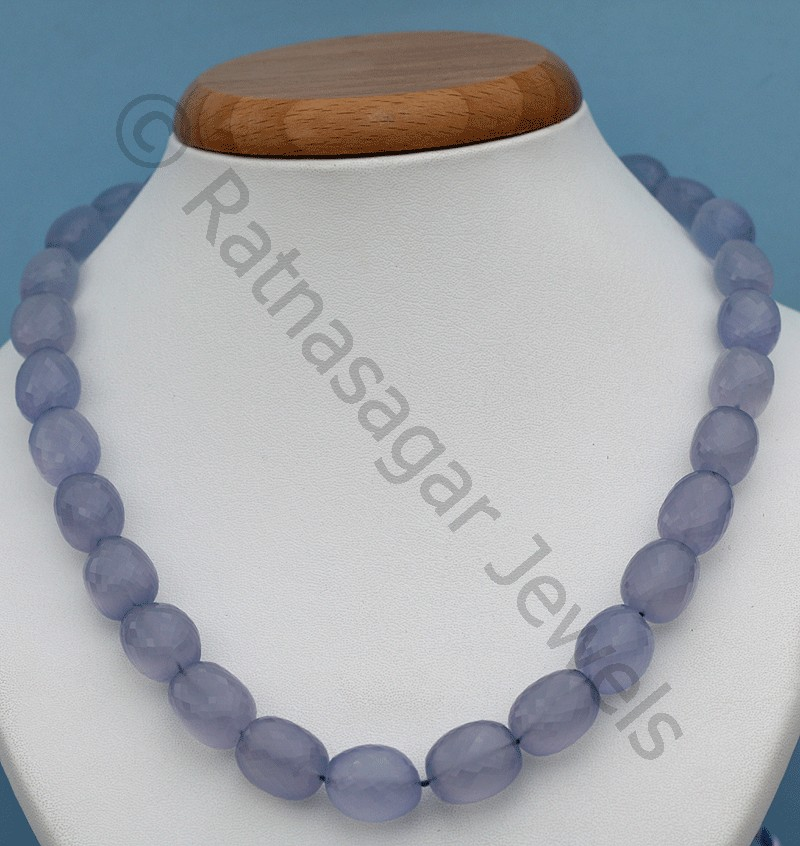 Chalcedony Gemstone  Faceted Nuggets
