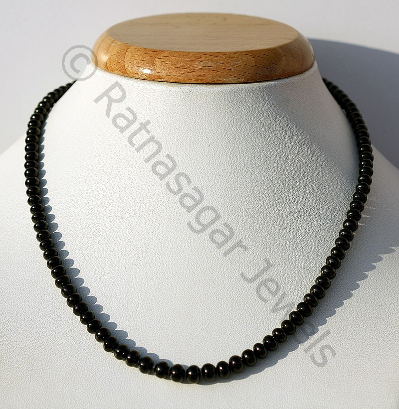 Black Spinel Plain Beads