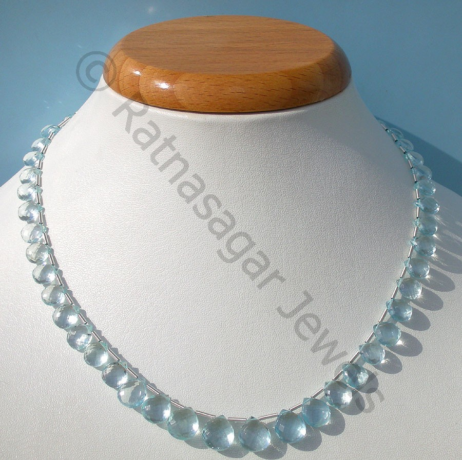 Aquamarine Gemstone  Heart Briolette