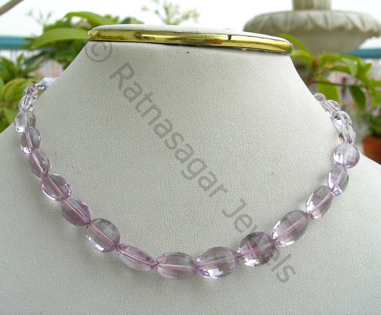 Pink Amethyst  Oval Faceted