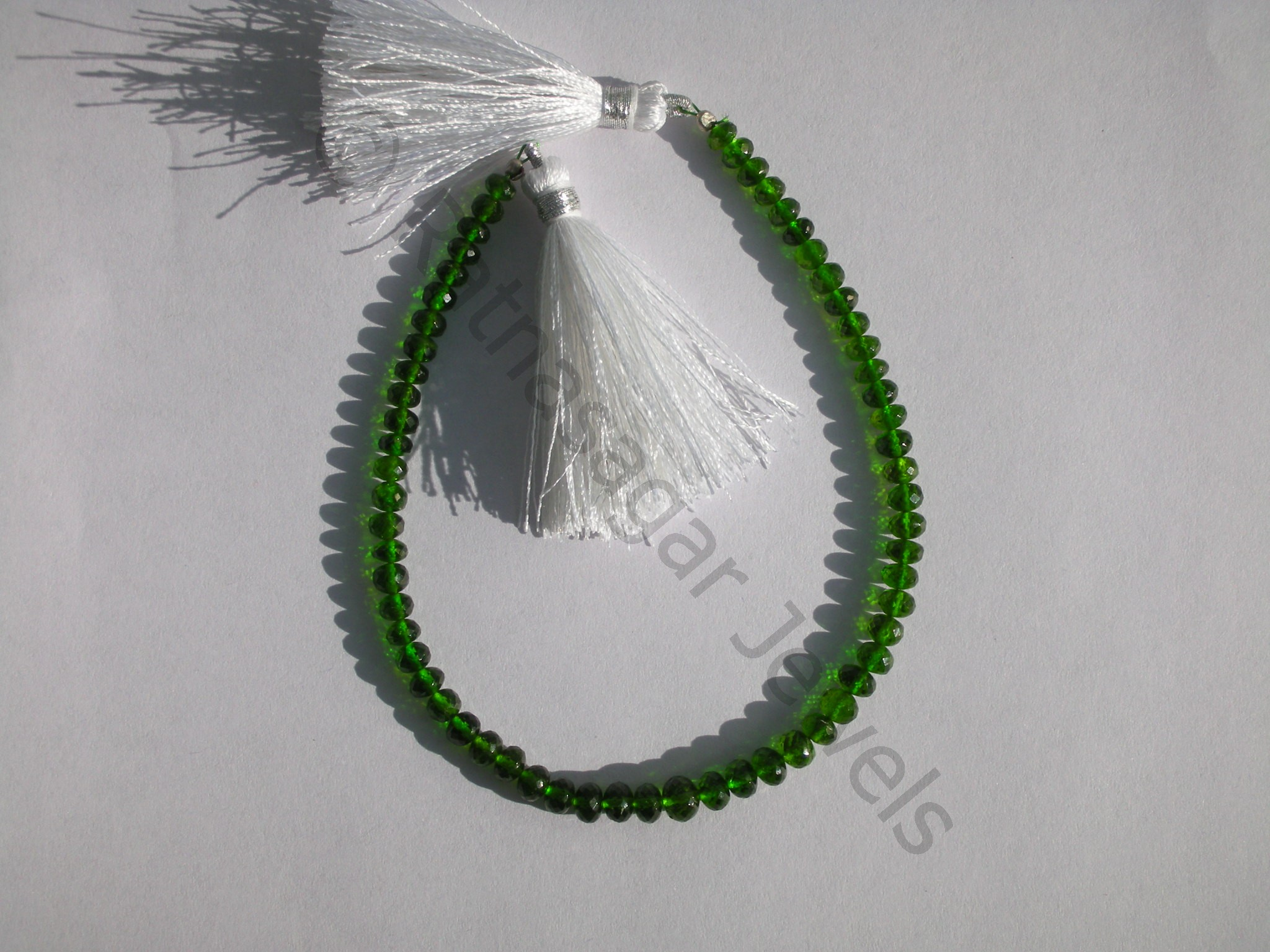 Chrome Diopside  Faceted Rondelle