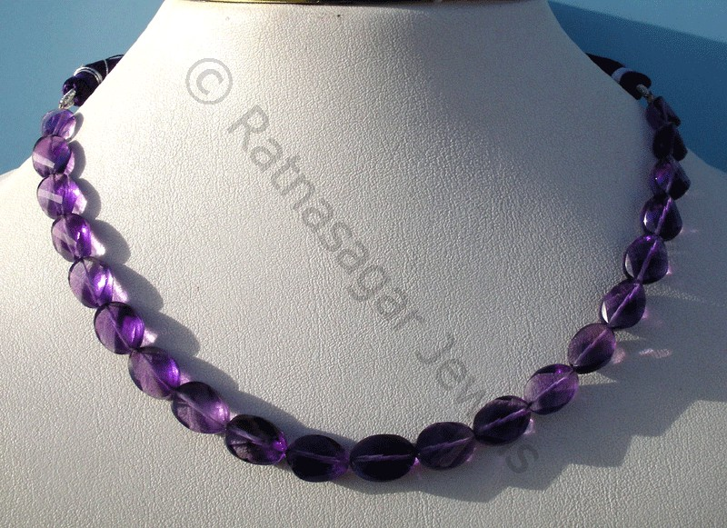 Amethyst Gemstone Twisted Oval