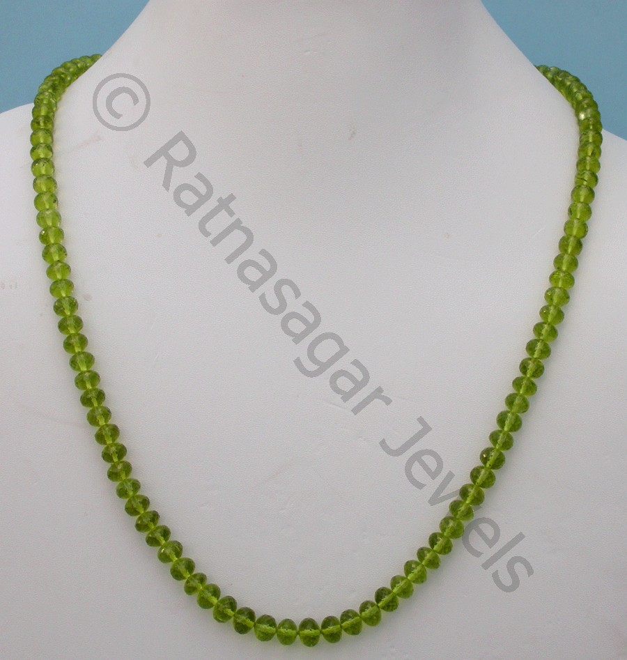 Peridot Gemstone Beads  Faceted Roundels