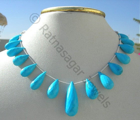 Turquoise Gemstone Fancy Cut Beads