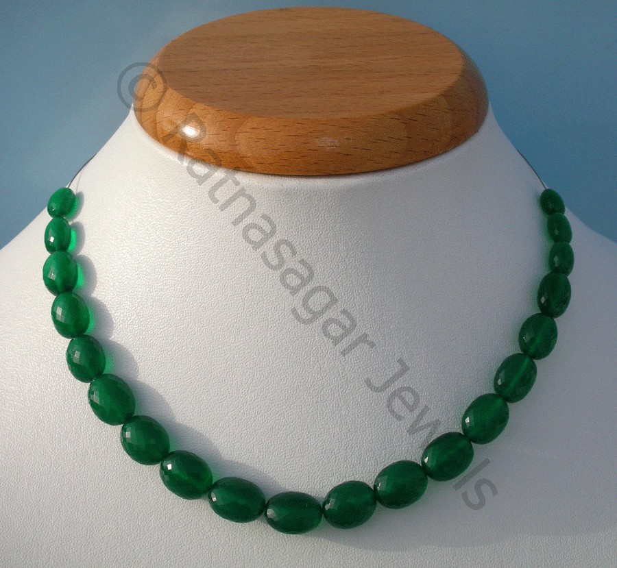 Green Onyx  Oval Faceted