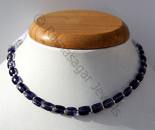 Iolite Gemstone Beads  Faceted Rectangles