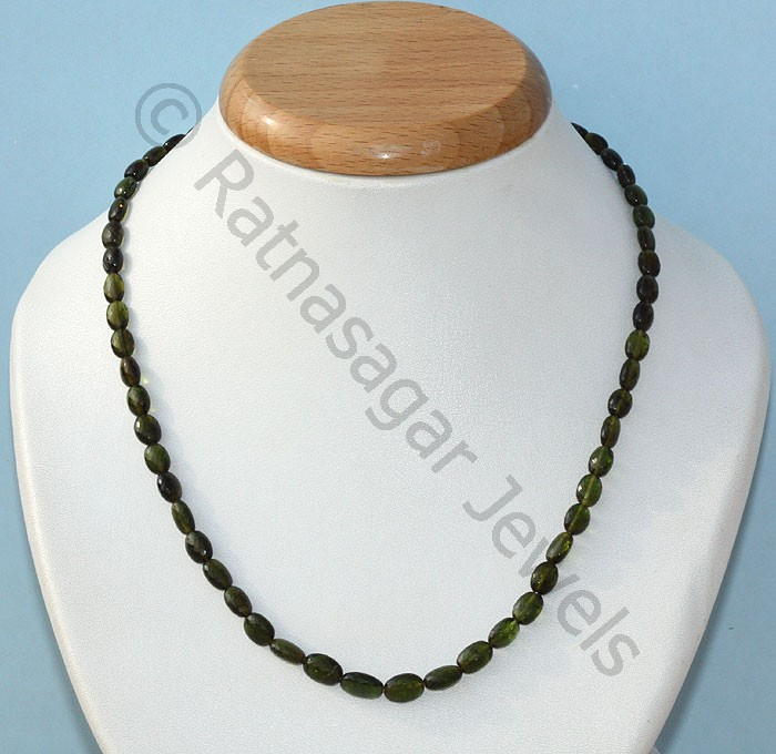 Tourmaline Gemstone Beads  Oval Faceted