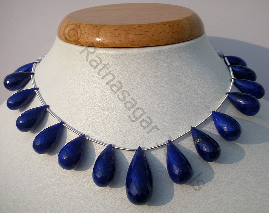 Lapis Gemstone  Tear Drops Briolette