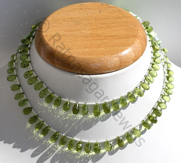 Peridot Gemstone Beads  Tear Drops Briolette
