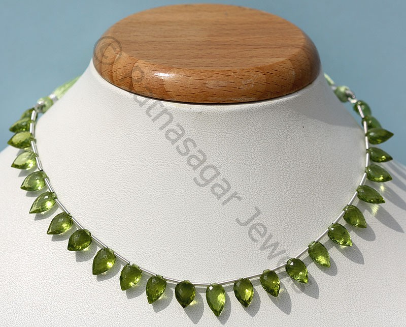 Peridot Gemstone Beads  Conch Briolette