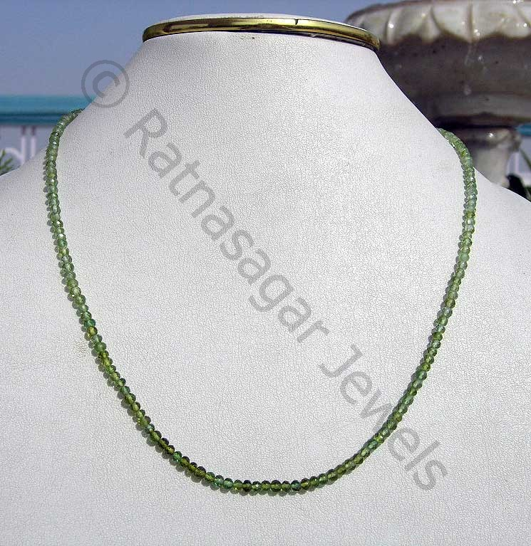 Tourmaline Gemstone Beads  Faceted Rondelles