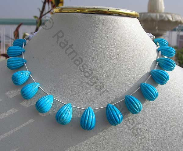 Turquoise Gemstone Beads  Fancy