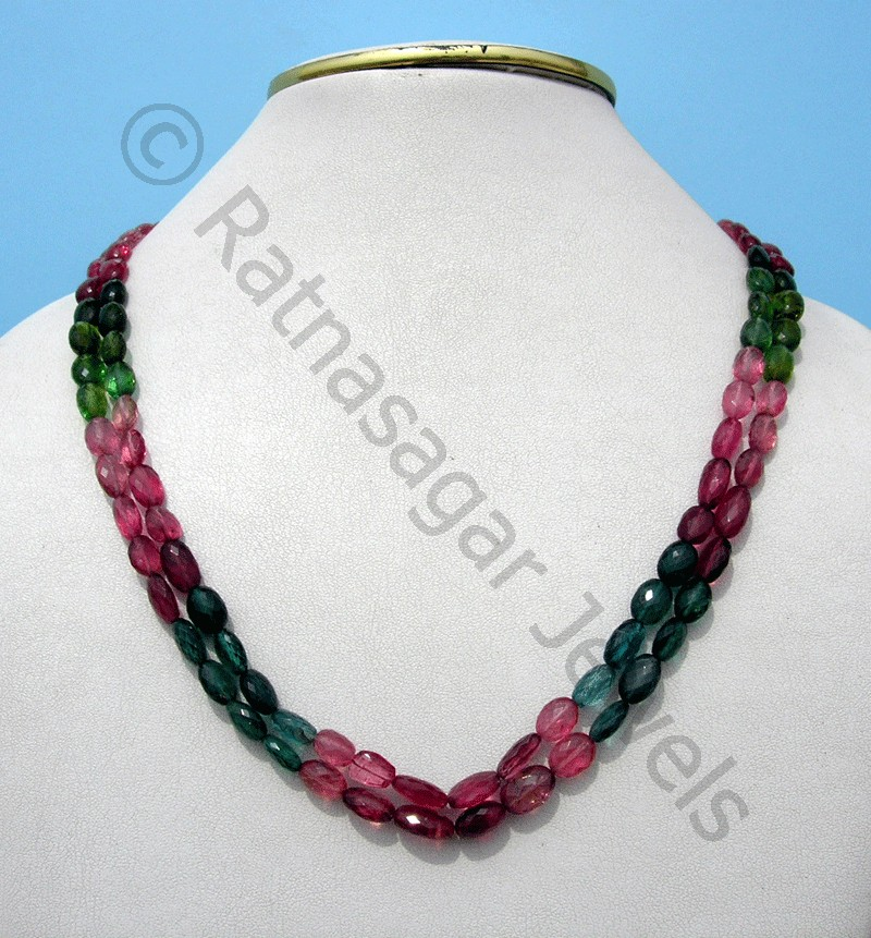 Tourmaline Gemstone Beads  Faceted Nuggets