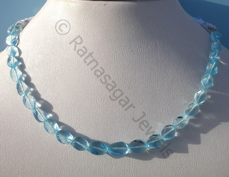 Blue Topaz Gemstone Twisted Oval