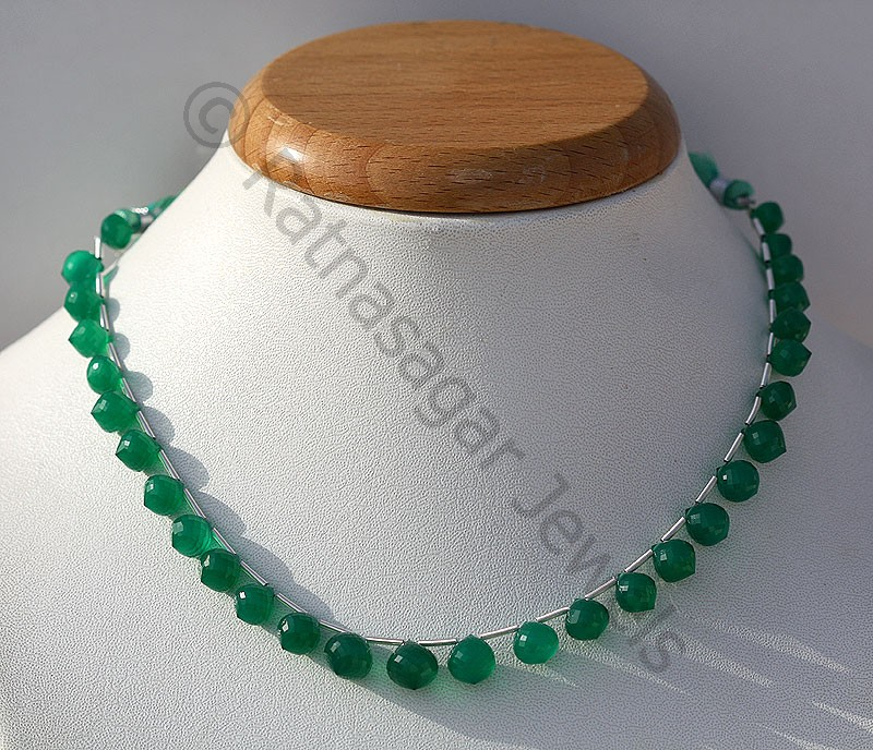 Green Onyx  Onion Shape