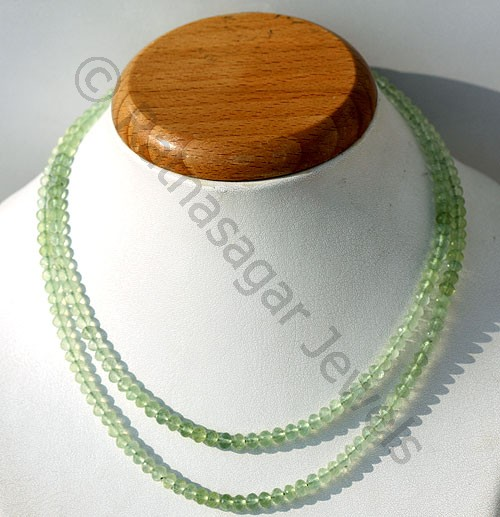 Prehnite Gemstone  Faceted Rondelles