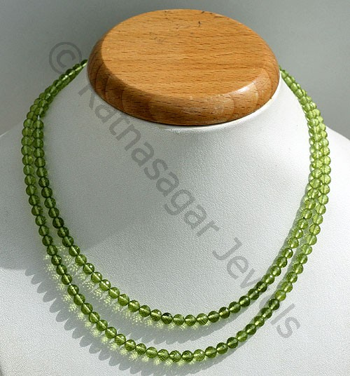 Peridot Gemstone Beads  Faceted Rounds