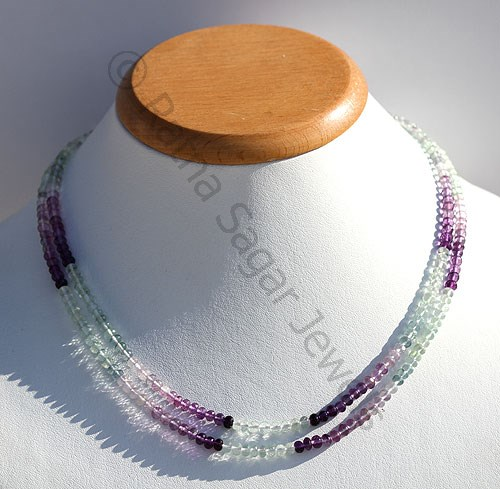 Fluorite Gemstone Beads  Faceted Rondelle