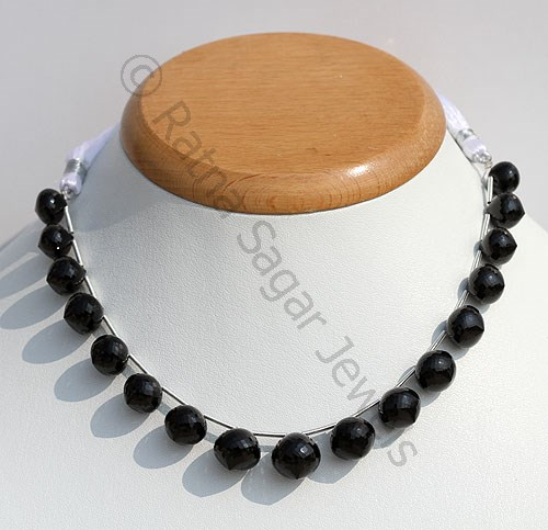Black Spinel Onion Shape Beads