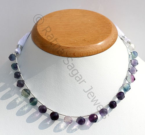 Fluorite Gemstone Onion Shape Beads