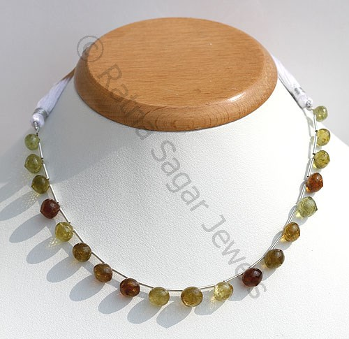 Grossular Garnet Onion Shape Beads